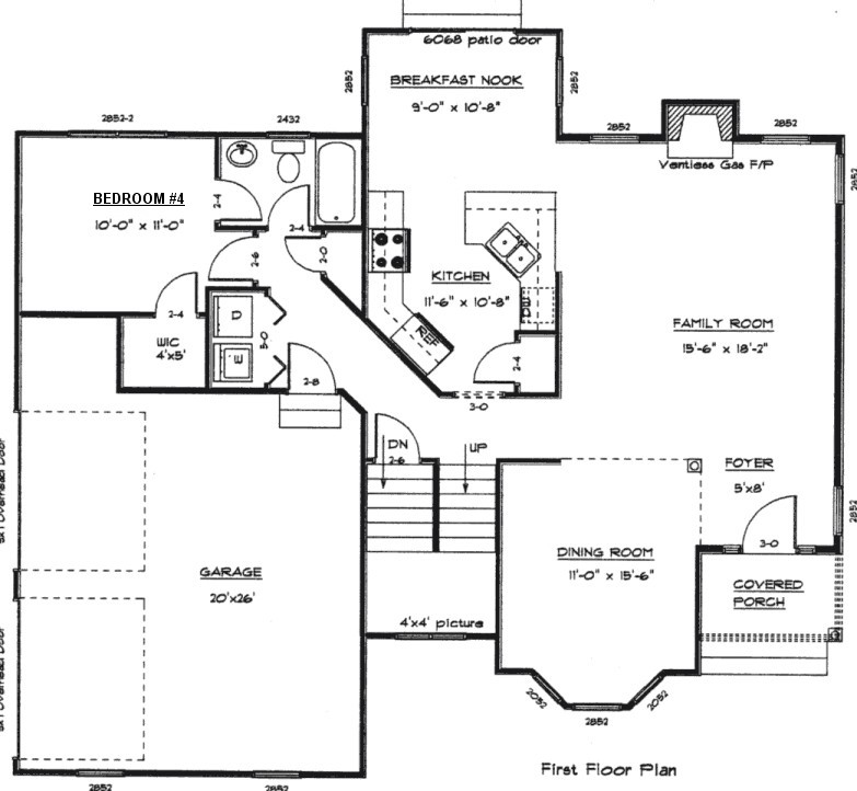 First floor plan second floor plan for Floor plan blueprints free